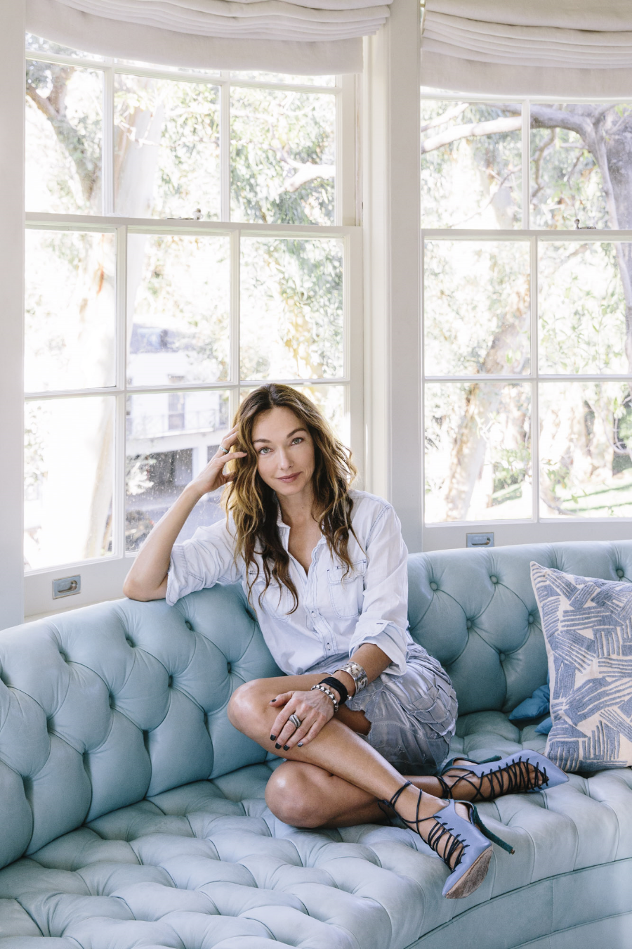 Interior Designer Kelly Wearstler at home in Los Angeles.