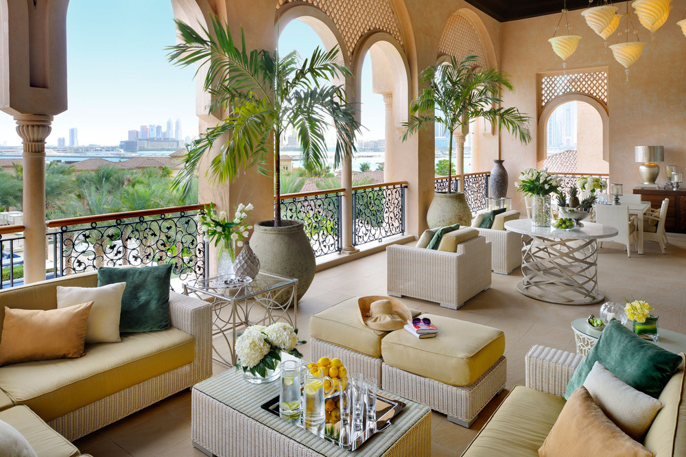 A suite's terrace at One & Only The Palm