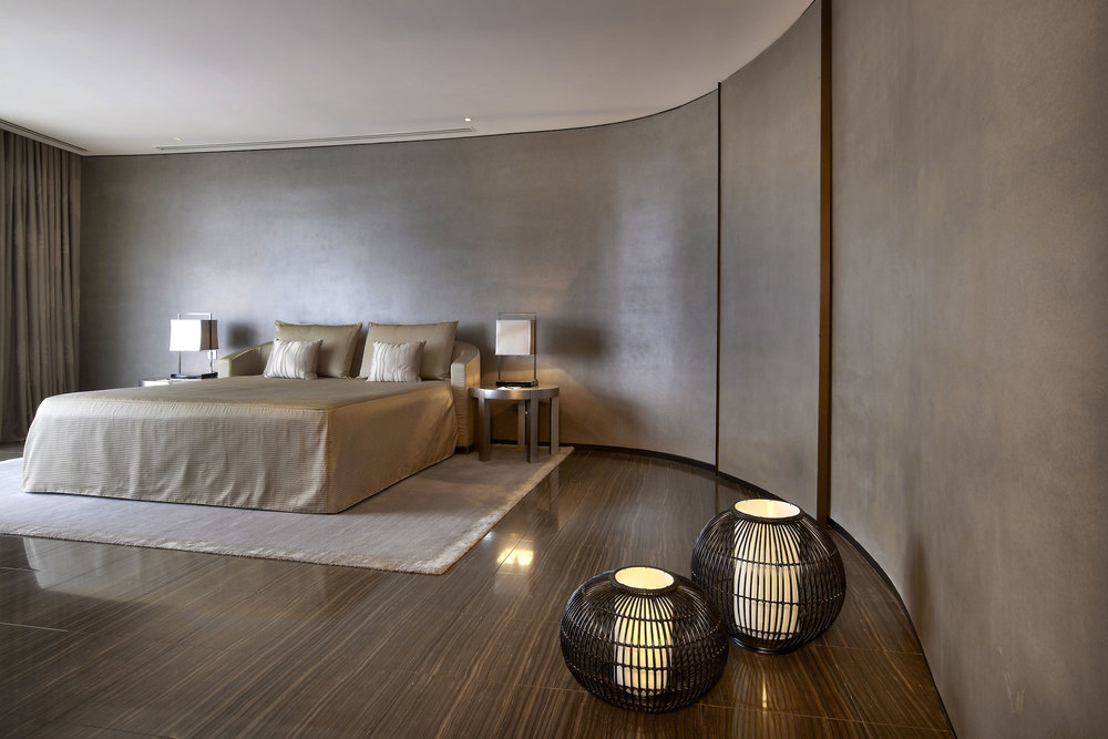 An Armani Casa bedroom