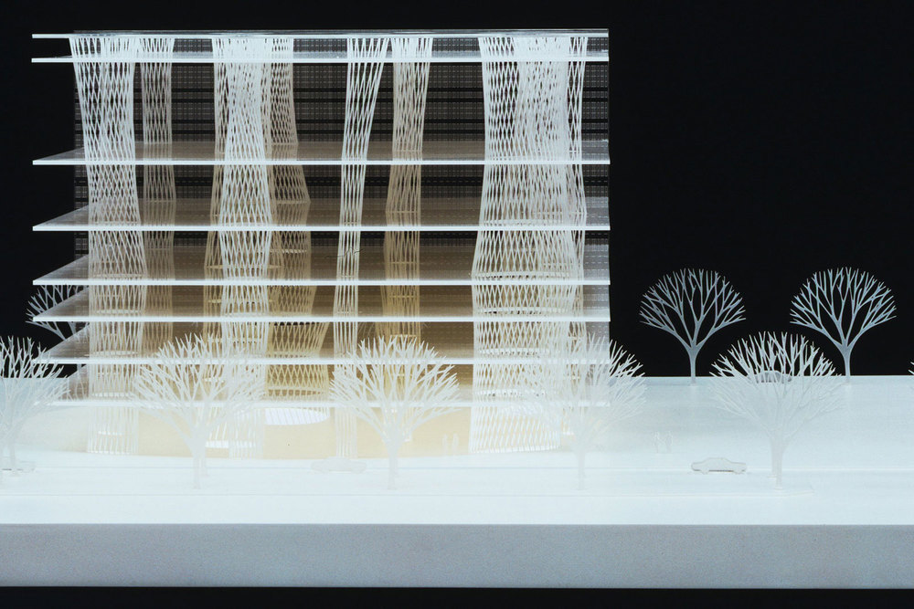 Acrylic model by Toyo Ito & Associates. (Photo: Courtesy MoMA)