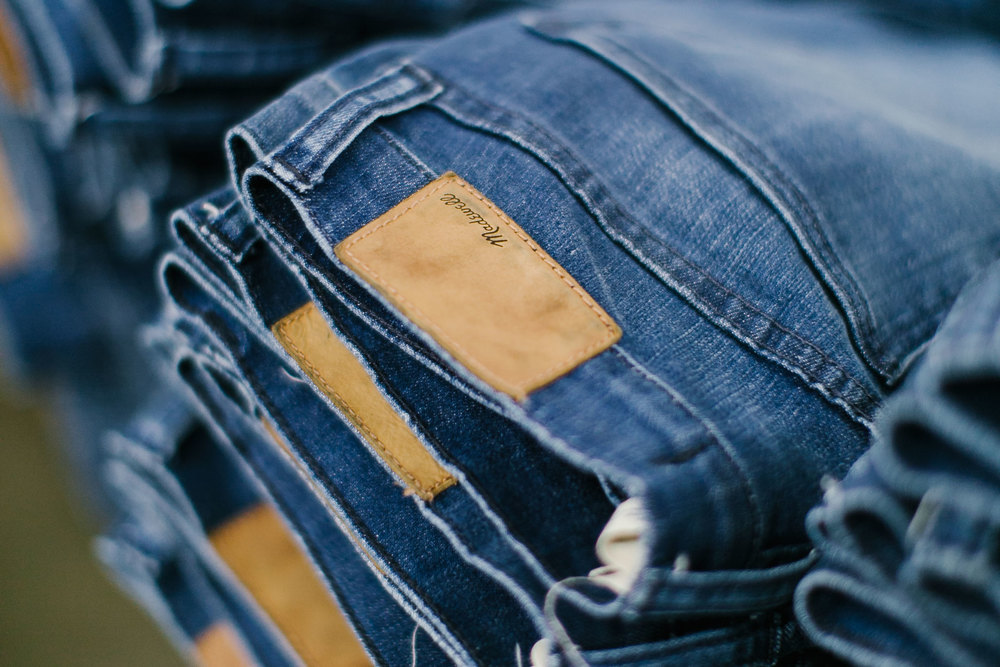 "After the wet and dry processing are completed, the jeans are reinforced at the seams, tagged, and finished. ""When you go back to that jean you feel like yourself. 'It's me, I'm comfortatable,"" Lee says."
