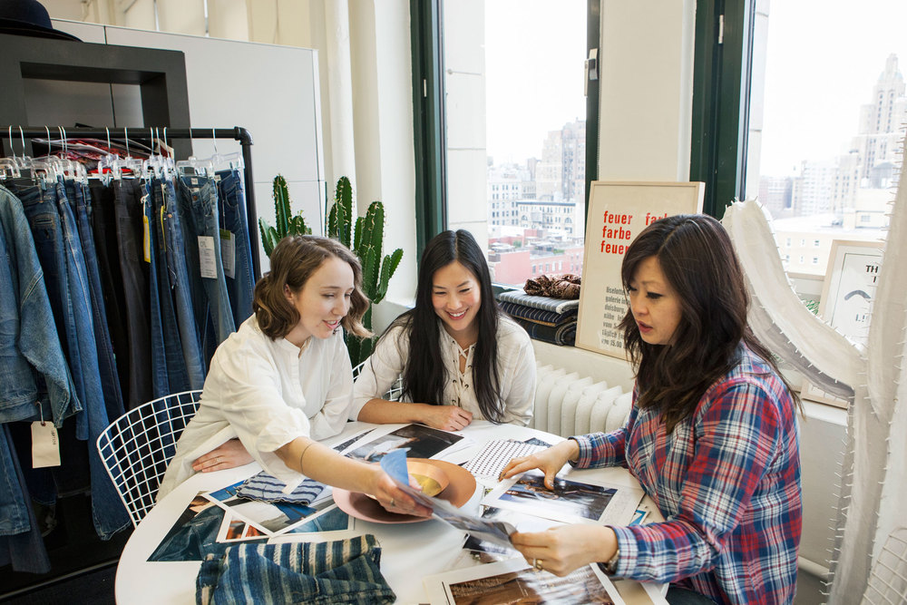 """We have our finger on the pulse of what's going on in denim,"" head of denim design, Mary Pierson, says. ""That's really vital to being on tom of what's coming and how to approach it."" (Photo: Katherine Wolkoff/Surface)"