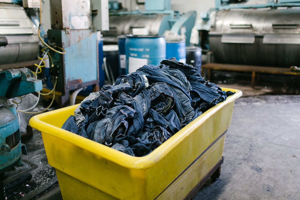 A pile of denim fresh out of the wash. (Photo: Angi Welsch/Surface)