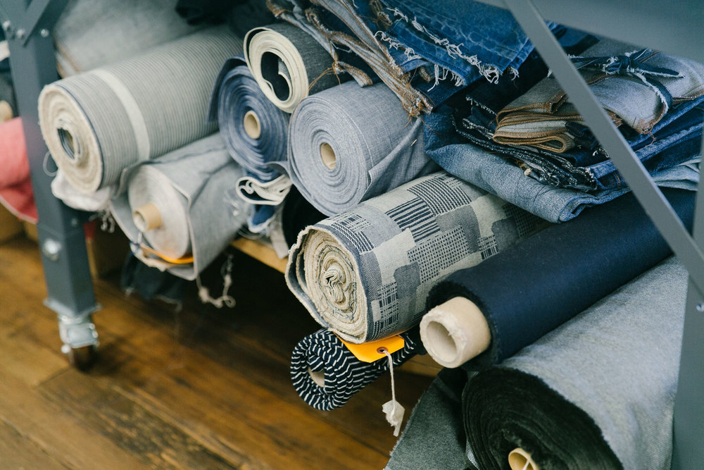 "Raw denim is sourced from around the globe (Italy Japan, Turkey, and the U.S.). ""We use the best fabrics,"" Pierson says. ""When Madewell relaunched denim [in 2013], the non-negotiable was the fabric."" (Photo: Angi Welsch/Surface)"