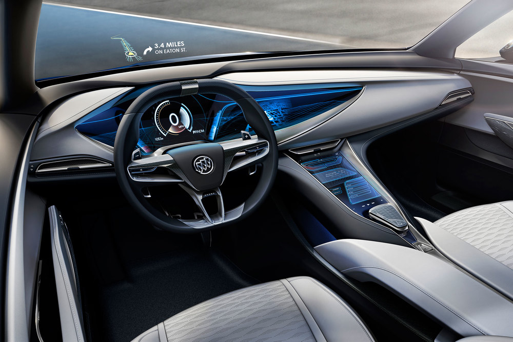 A look at the Avista's futuristic interior. (Photo: Courtesy Buick)