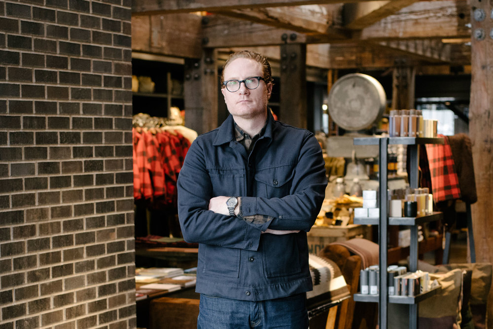 Filson CEO Gray Madden at the brand's Seattle flagship. (Photo: Ian Bates/Surface)