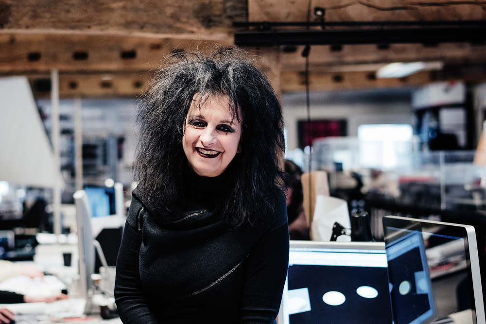 Odile Decq at her Paris studio. (Photo: Franck Juery/Surface)