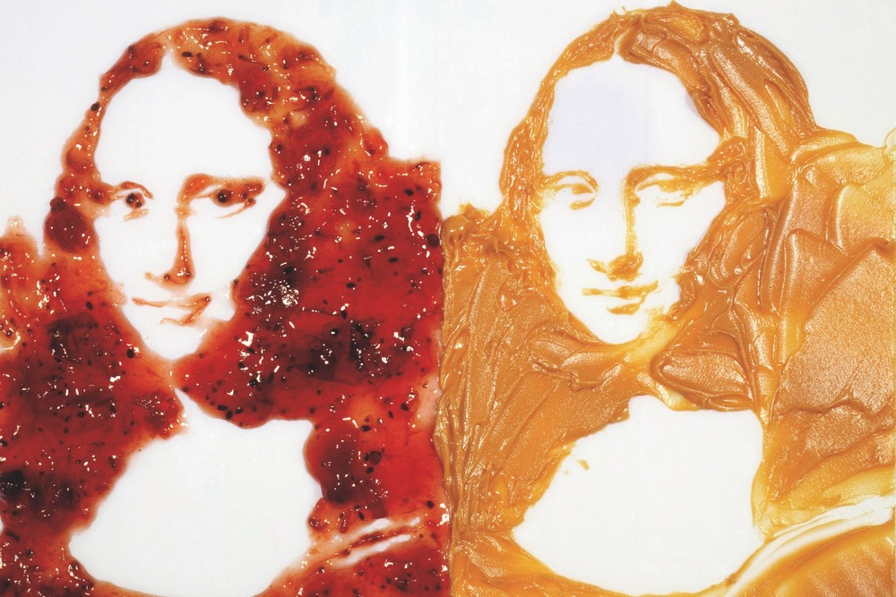 """Double Mona Lisa, (Peanut Butter and Jelly)"" (1999) by Vik Muniz (Photo: Courtesy Vik Muniz and Galerie Xippas, Paris)"