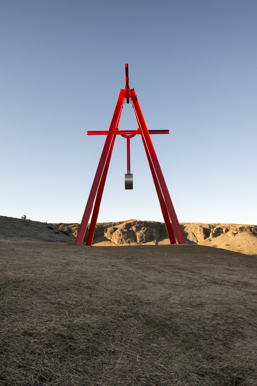 "The three story tall ""Proverb"" by Mark di Suvero. (Photo: Alexis Pike/Surface)"