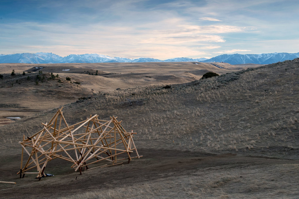 """Satellite No. 5,"" an in-progress work by Stephen Talasnik. (Photo: Alexis Pike/Surface)"