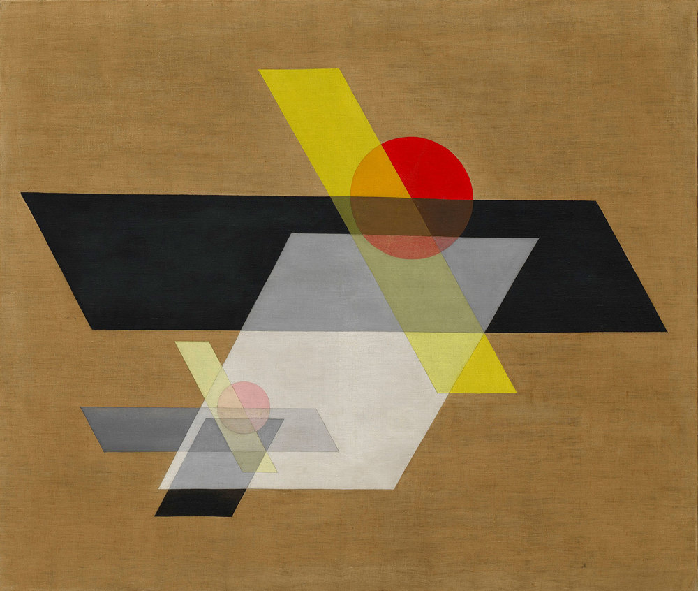 """Composition with Yellow Cross"" (1922). (Photo: Courtesy Guggenheim)"