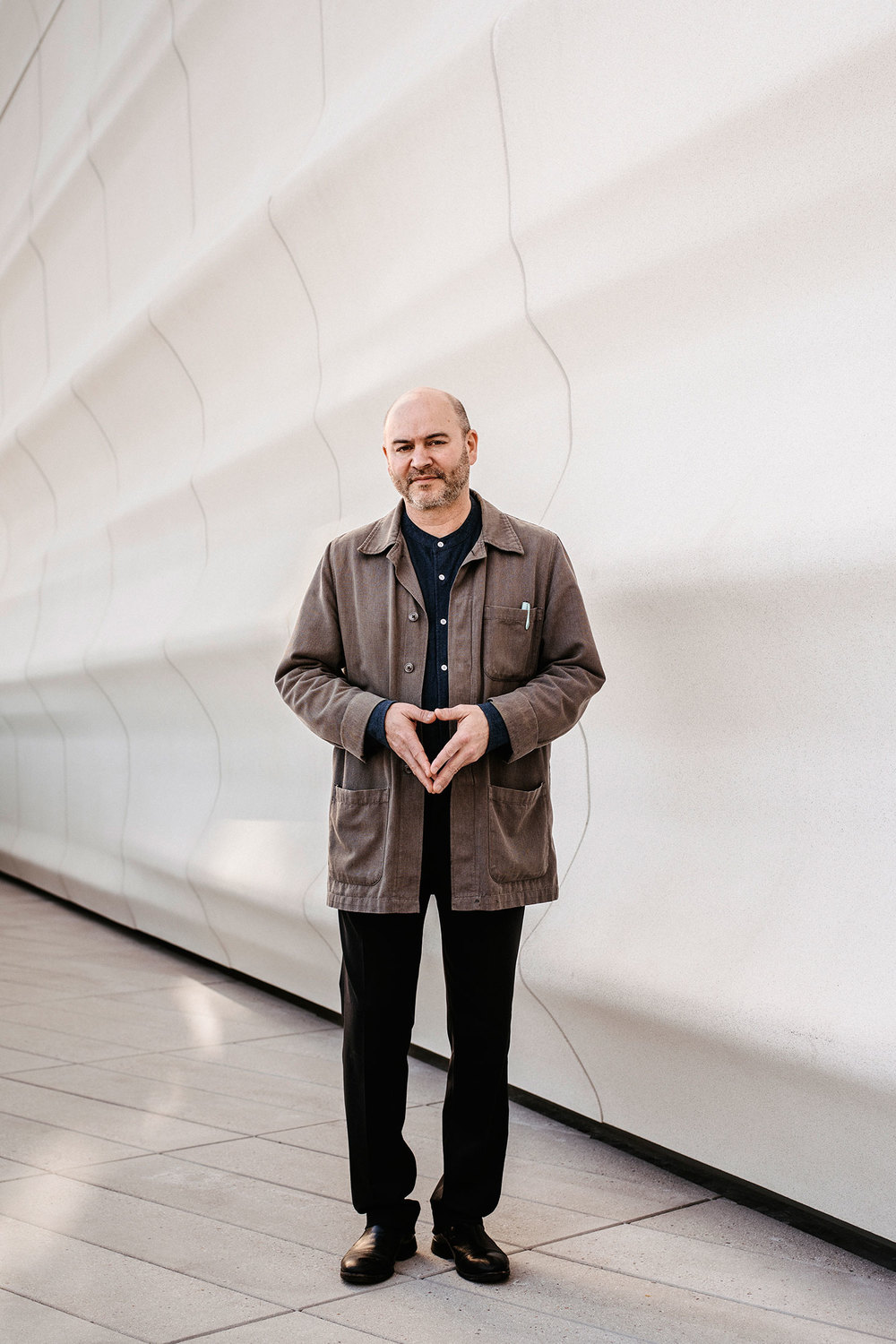 Craig Dykers at the new SFMOMA building. (Photo: Justin Kaneps/Surface)