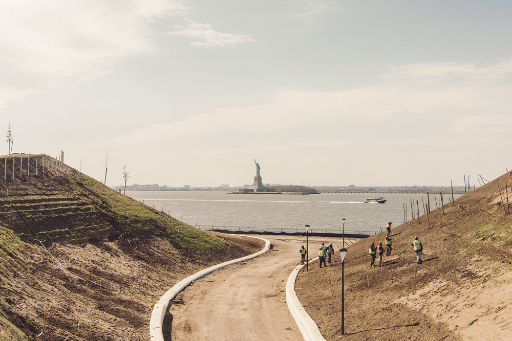 A view of the Statue of Liberty from The Hills. (Photo: Dustin Aksland/Surface)