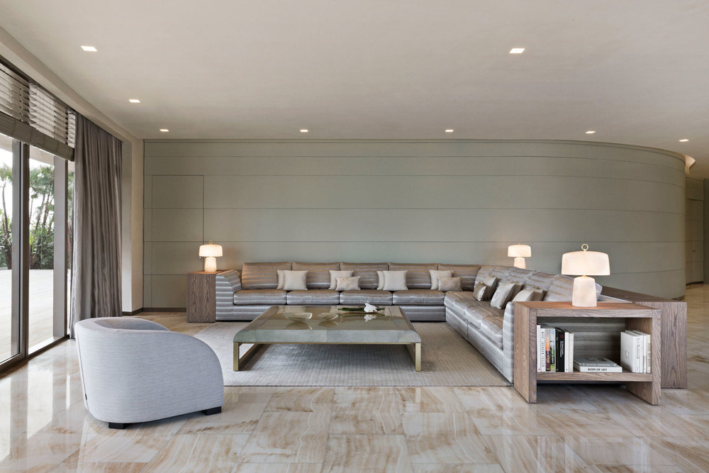 A model living room for the Residences by Armani/Casa. (Photo: Courtesy The Related Group and Dezer Development)