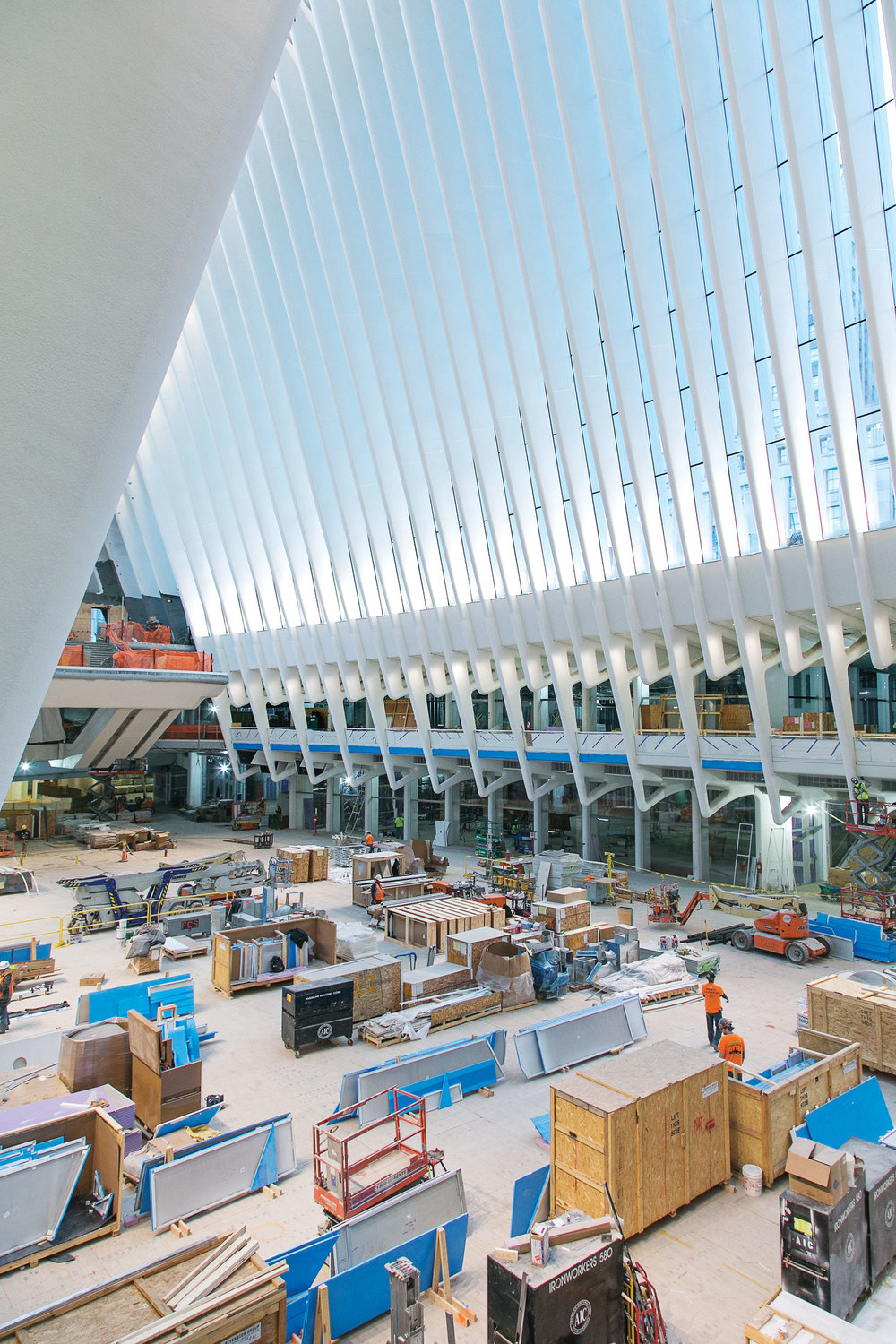 Santiago Calatrava's World Trade Center transportation hub. (Photo: Ogata/Surface)