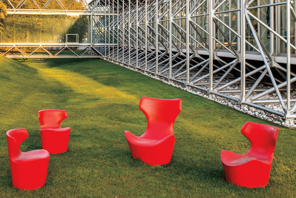 Finished Papilio chairs outside the headquarters. (Photo: Valerio Vincenzo/Surface)