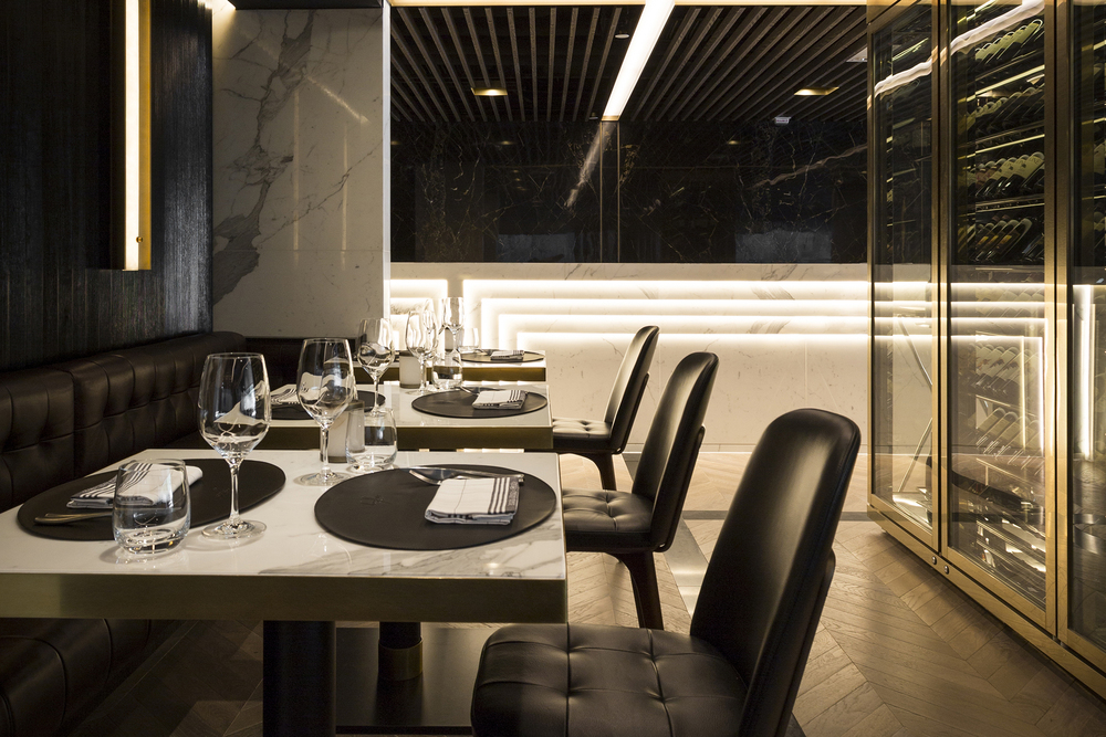 The interior of Beefbar in Hong Kong. (Photo: Jonathan Maloney)