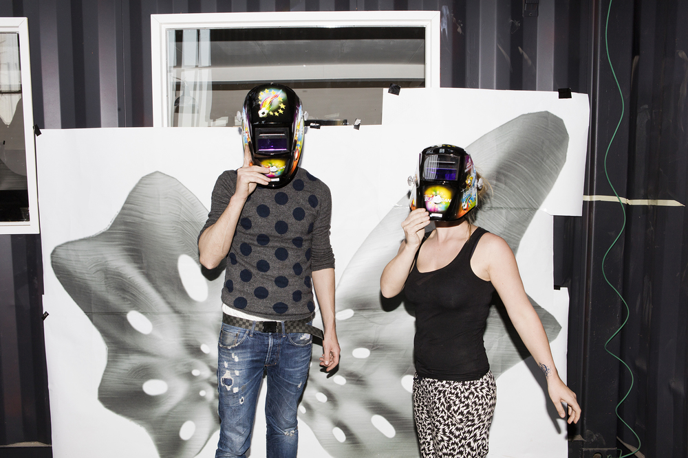 Joris Laarman and partner Anita Star at MX3D. (Photo: Valentia Vos/Surface)