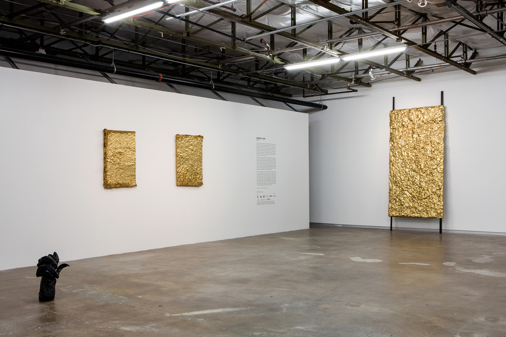 "Installation view of ""Burry,"" Helmut Lang's first museum show. (Photo: Kevin Todora. Courtesy Dallas Contemporary)"