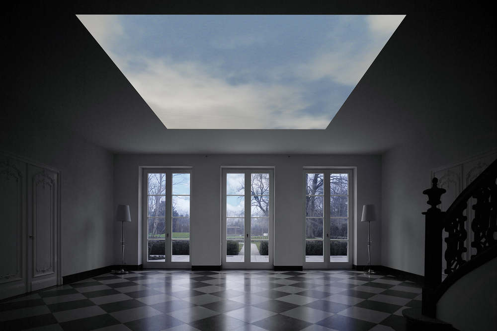 "An augmented reality skylight installation in a private residence, titled ""Hypersky."" (Photo: Courtesy of Kram/Weisshaar)"