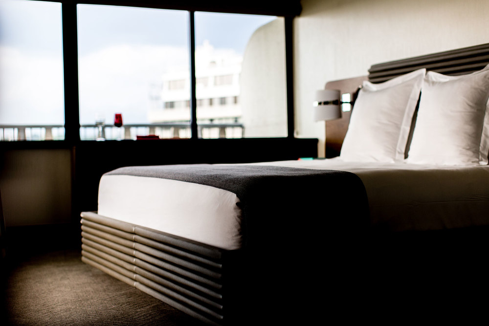 A guest room at the Watergate Hotel. (Photo:   Justin Tsucalas/Surface)