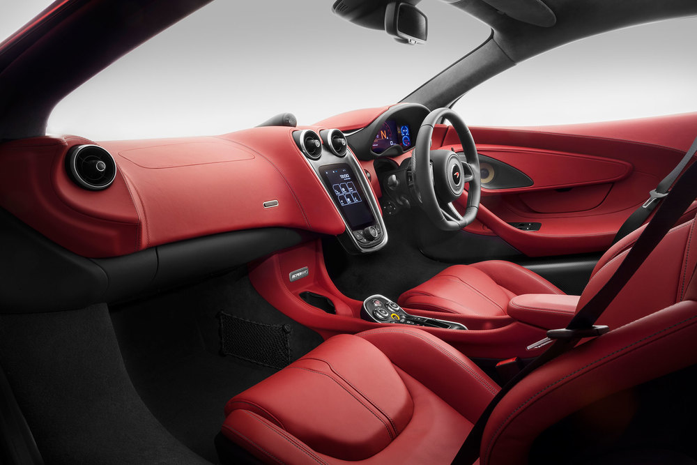Inside the McLaren 570GT Coupe. (Photo: Courtesy McLaren Automotive)