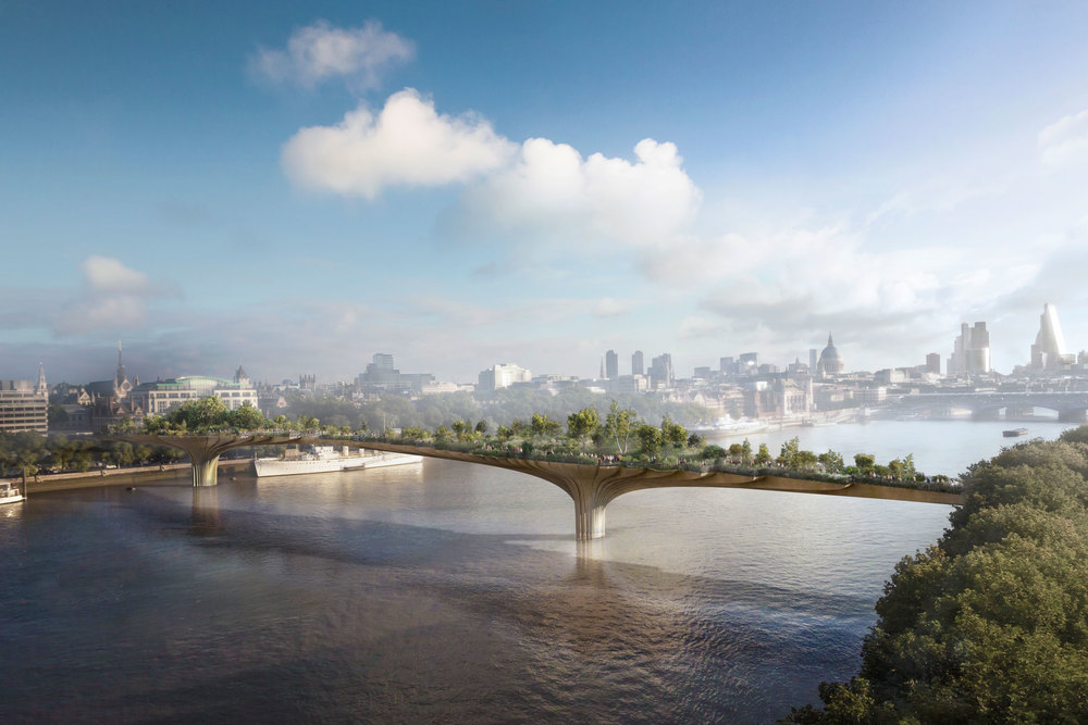 A rendering of Heatherwick Studio's Garden Bridge project in London. (Photo: Courtesy Heatherwick Studio)