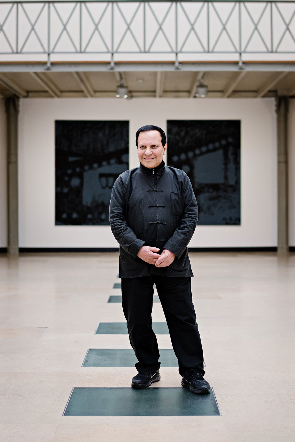 Azzedine Alaïa inside his eponymous gallery. (Photo: Franck Juery/Surface)