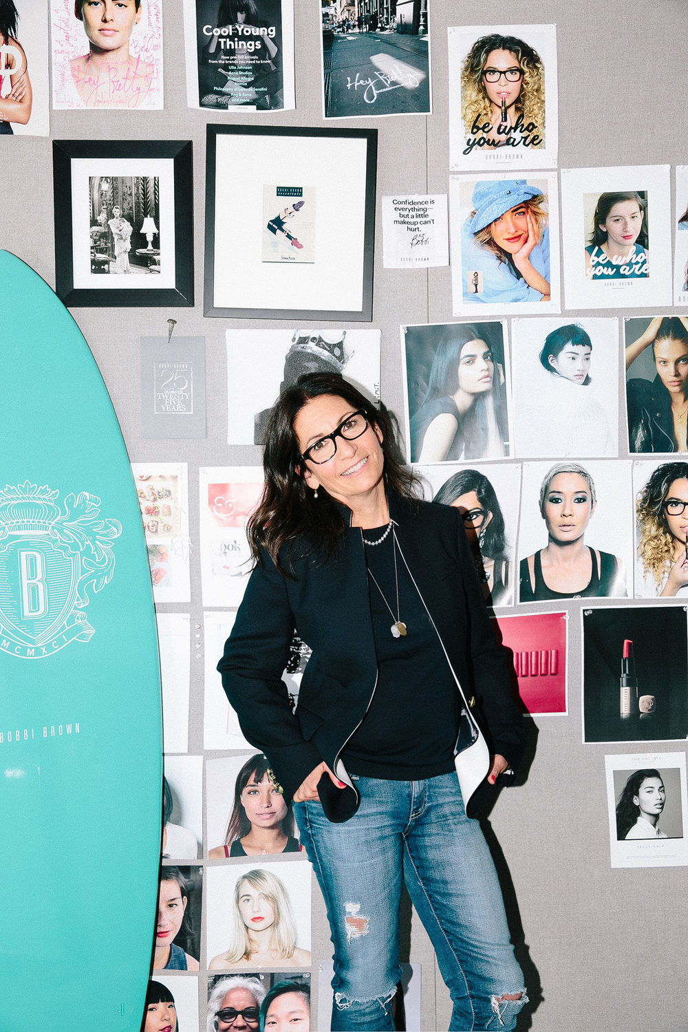 Bobbi Brown in her New York City office.
