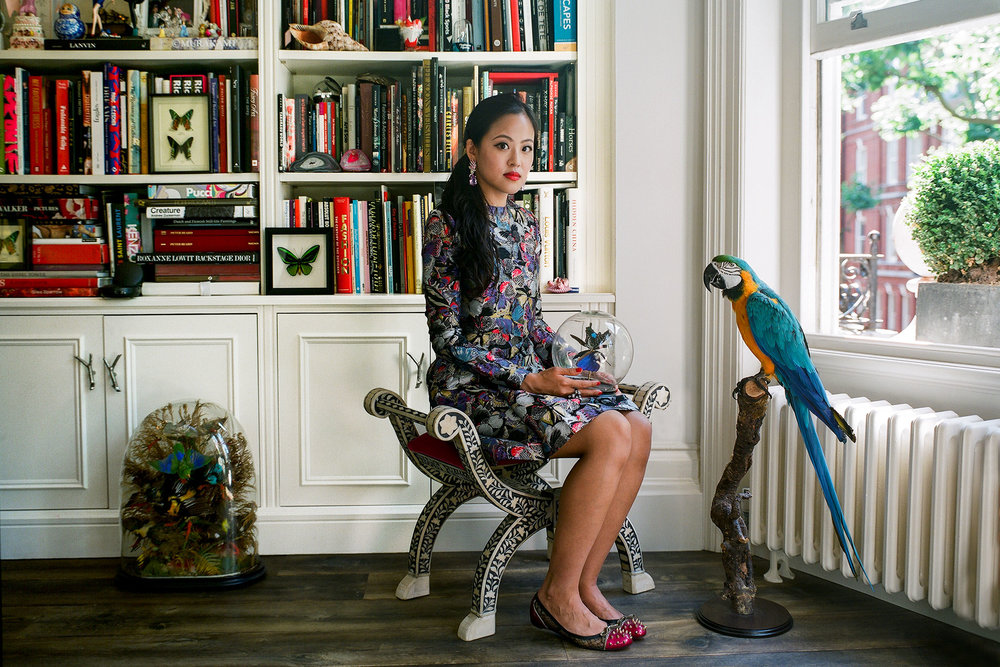 Anabela Chan at her home in London.