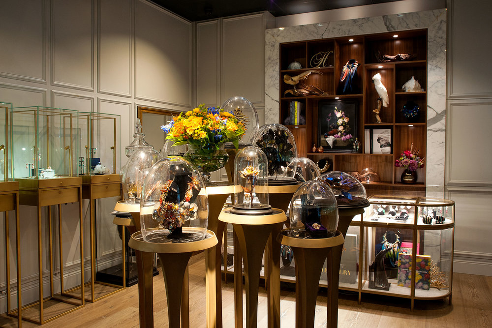 A view of Chan's boutique at the Ham Yard Hotel.
