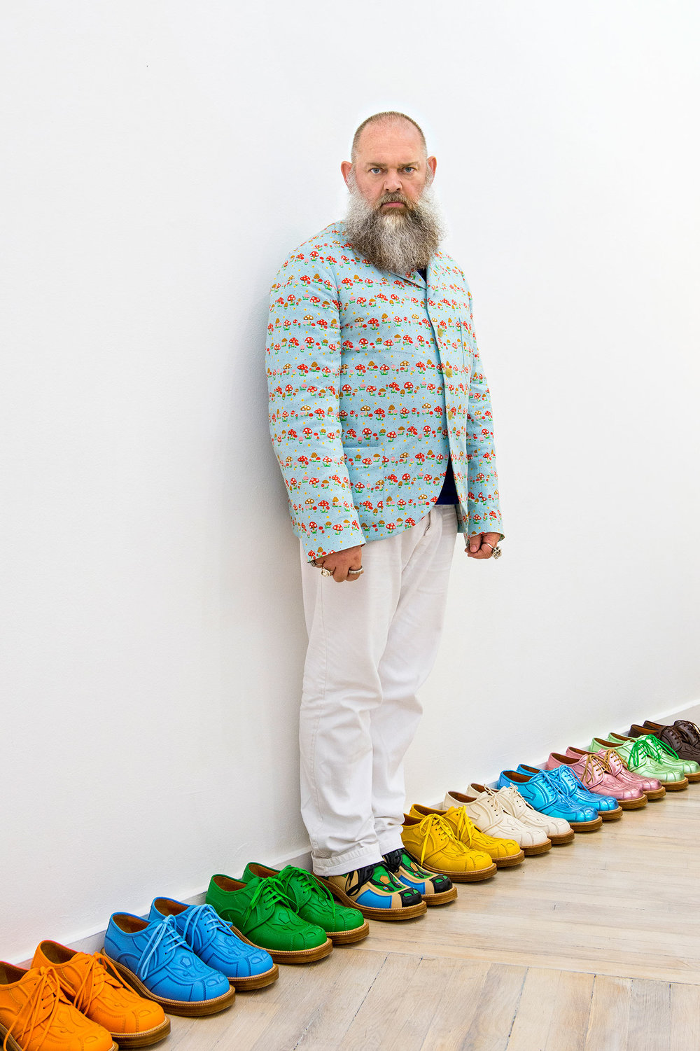 Walter Van Beirendonck at his Paris showroom. (Photo: Celine Clanet/Surface)