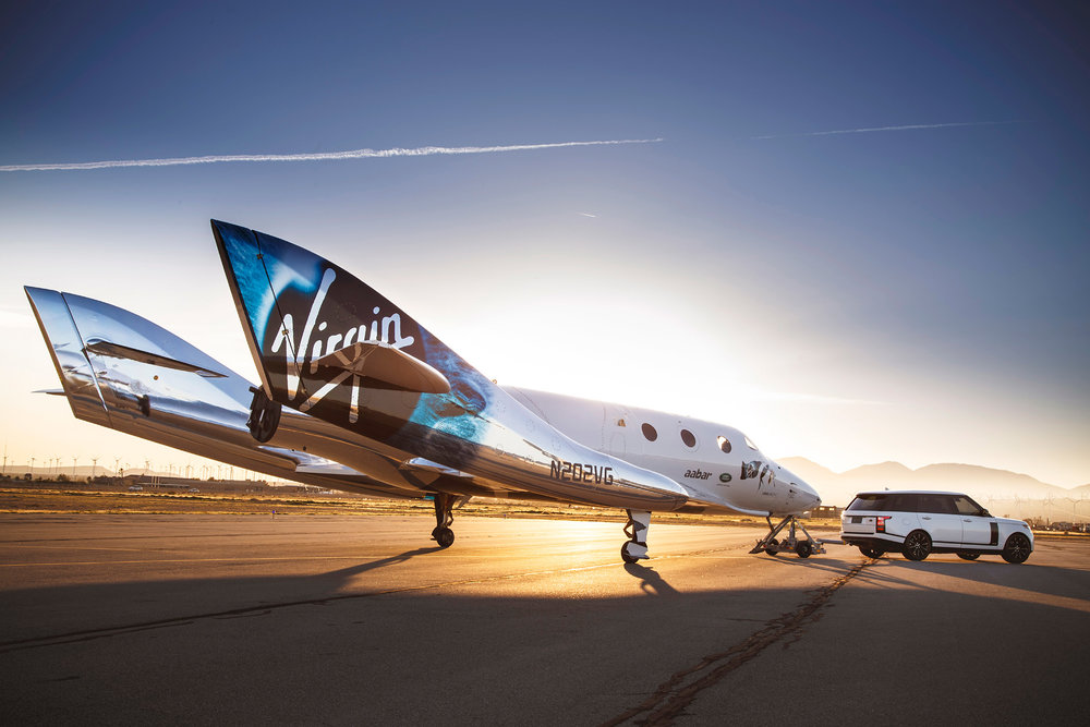 The new Virgin Galactic SpaceShip 2, named VSS Unity. (Photo: Courtesy Virgin Galactic)