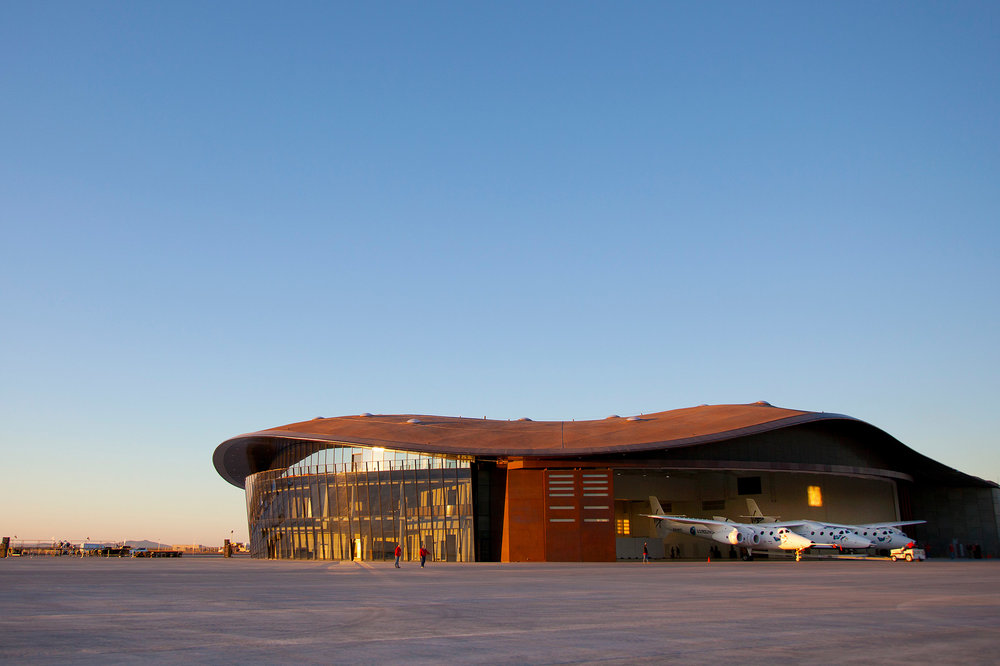 The Virgin Galactic headquarters, SpacePort America, in New Mexico. (Photo: Courtesy Virgin Galactic)