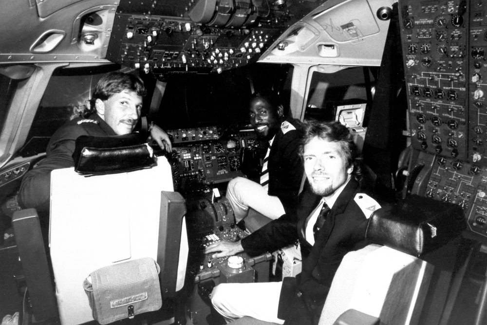 Another archival photo taken around the launch of Virgin Atlantic. (Photo: Courtesy Virgin Atlantic)