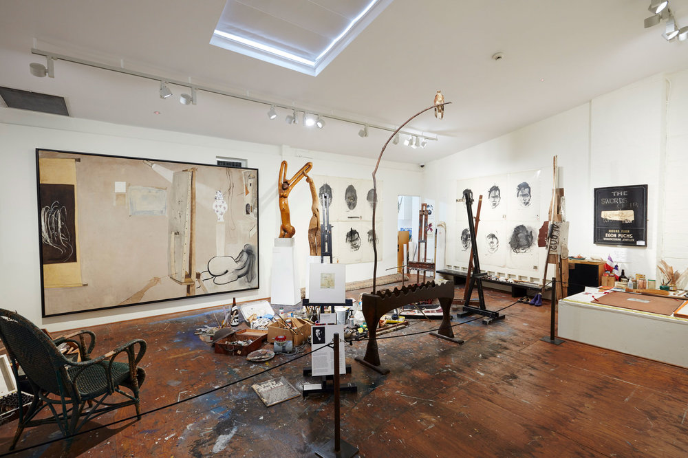 "View of the ""Brett Whiteley: Tributes"" exhibition at Brett Whiteley Studio. (Photo: Mim Stirling)"
