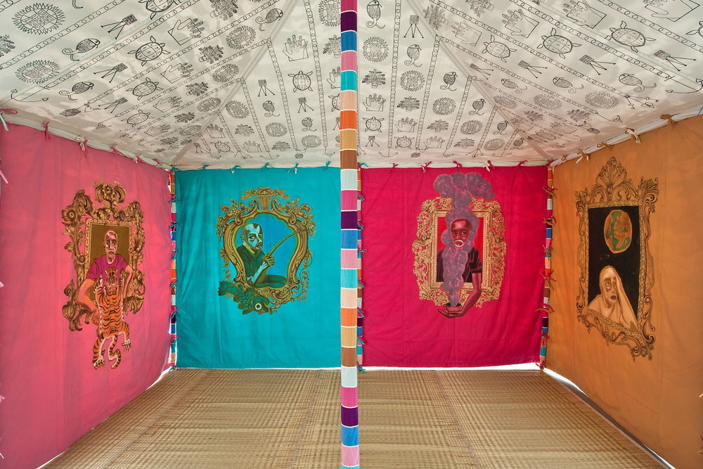 "Francesco Clemente's ""Museum Tent"" at Carriageworks. (Photo: Courtesy the artist and Blain Southern Gallery, Berlin)"
