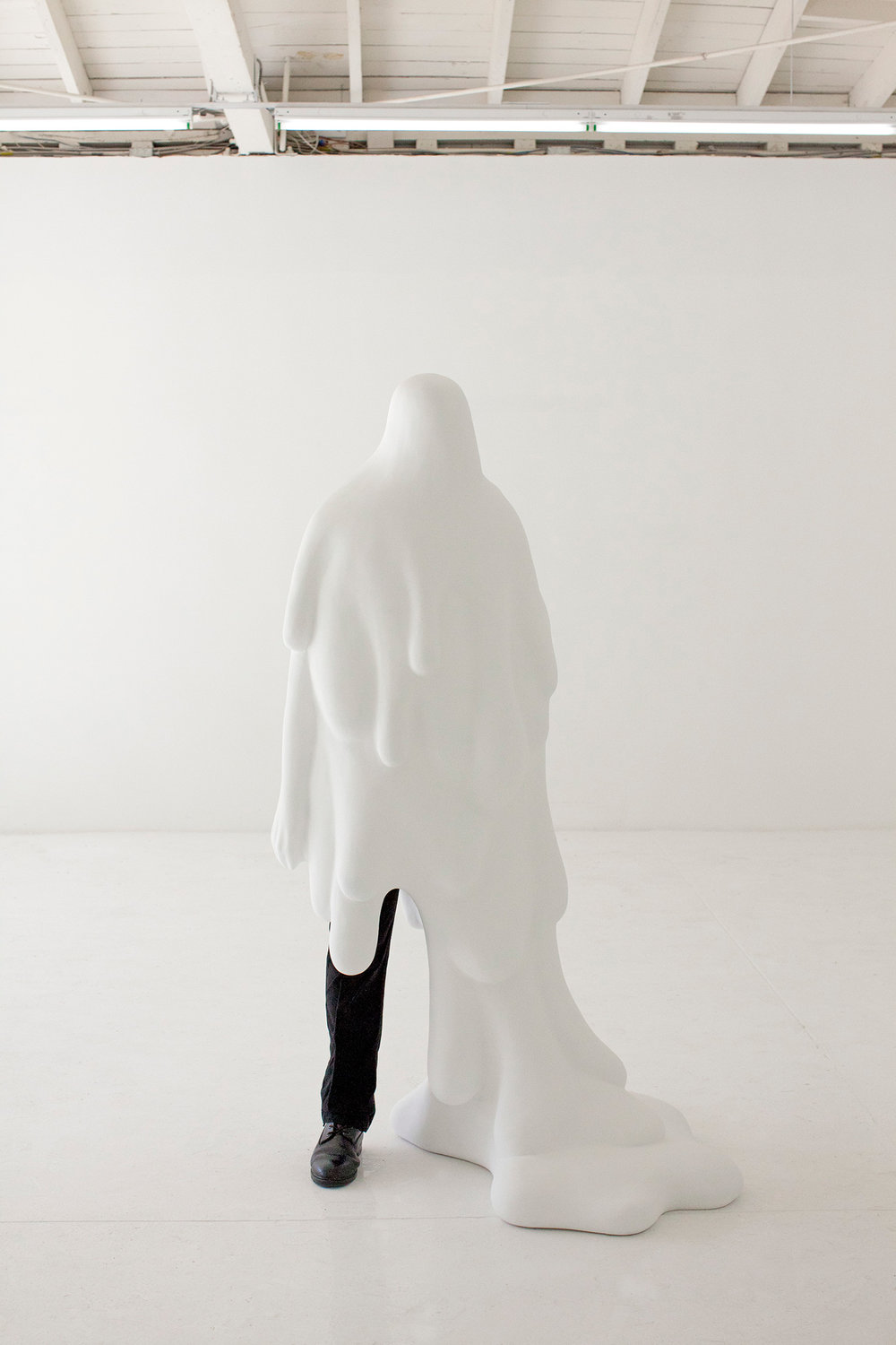 """Standing Figure with Drip"" (2011) by Daniel Arsham. (Photo: Courtesy Daniel Arsham)"