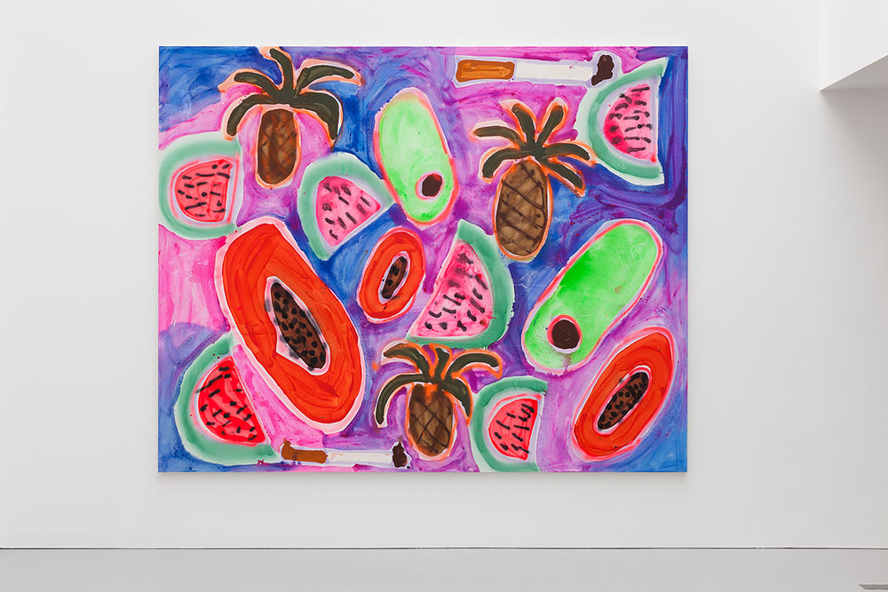 """Hawaiian Punch"" (2014) by Katherine Bernhardt. (Photo: Courtesy Katherine Bernhardt)"