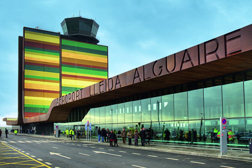 Outside the Lleida–Alguaire Airport in Alguaire, Spain. (Photo: Óscar Laborda Sanchez)