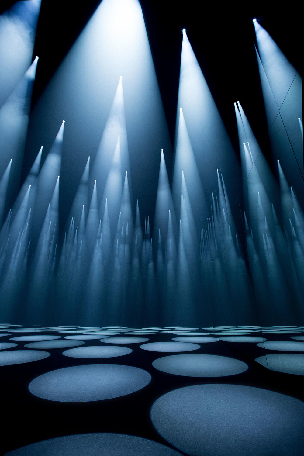 "Sou Fujimoto's ""Forest of Light"" installation for COS. (Photo: Courtesy COS)"