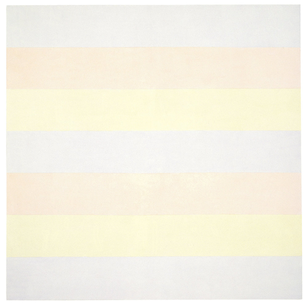 "Agnes Martin's ""Untitled #5"" (1998) (Photo: ©2016 Agnes Martin/Artists Rights Society (ARS), New York; Achim Kukulies, Düsseldorf)"