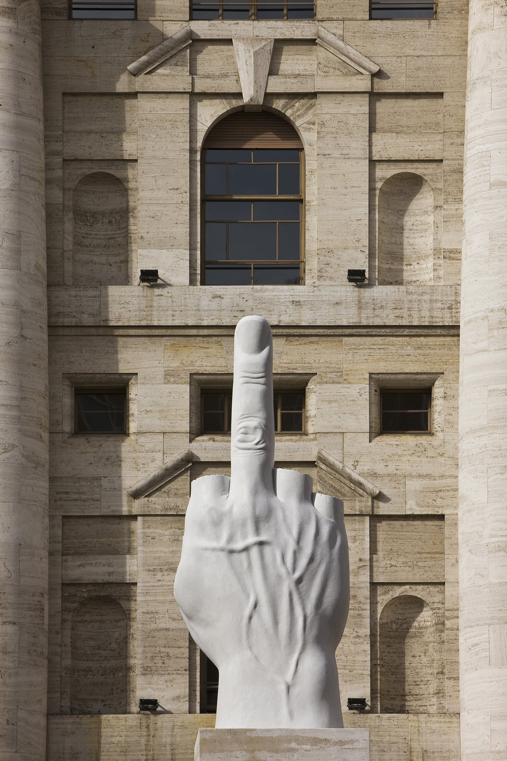"""L.O.V.E."" (2010) by Maurizio Cattelan will be in the artist's solo show at Monnaie de Paris. (Photo: Zeno Zotti/Courtesy Maurizio Cattelan's Archive)"