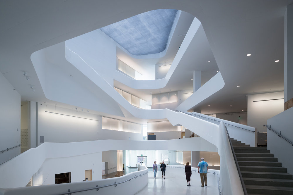 Inside University of Iowa's new Visual Arts Building. (Photo: Iwaan Baan)