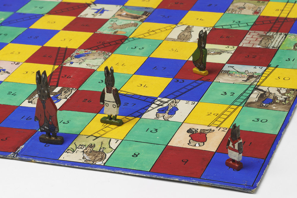 """A homemade Beatrix Potter-themed game of Snakes and Ladders from the 1930s."" (Photo: Courtesy Virginia and Albert Museum, London)"""