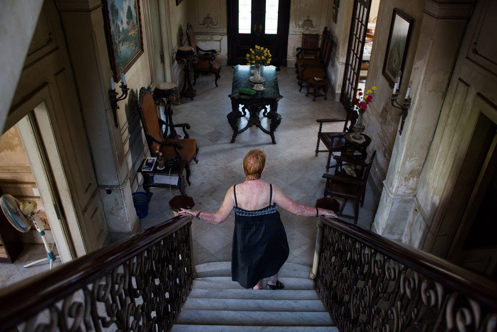 Josie Alonzo at home in Havana.