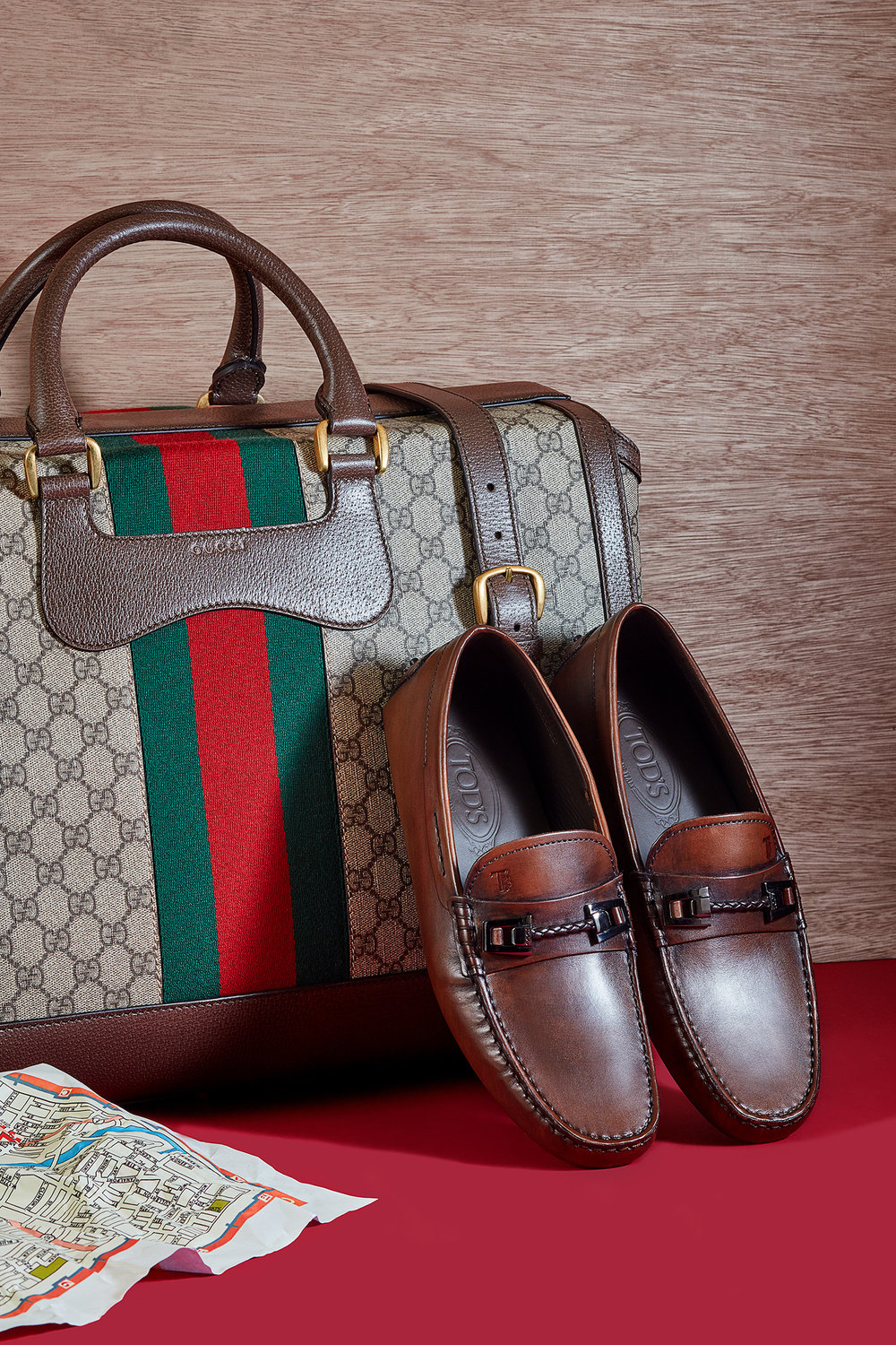 Bag,  Gucci . Shoes,  Tod's .