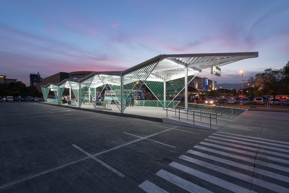 A Caza-designed bus station in Cebu City. (Photo:  Frank Callaghan /Courtesy Caza Architects)