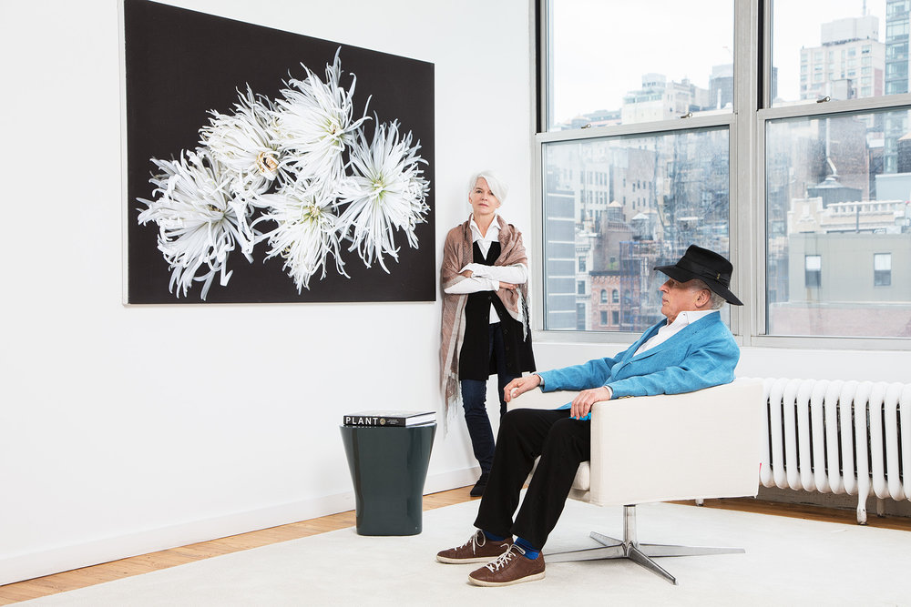 John Brockman and his wife, president of Brockman, Inc., and cofounder of edge.org, Katinka Matson, at their office in New York.