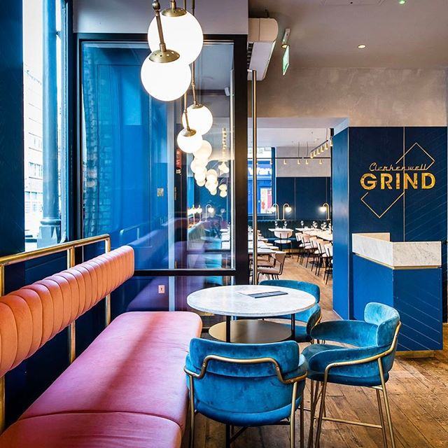 @biasoldesign transforms a 19th-century warehouse into a sumptuous, velvet-trimmed eatery. Take a look inside #ClerkenwellGrind on surfacemag.com.